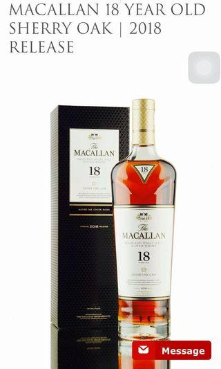 🚚 Macallan 18 years old 2018