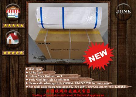 York 1HP Wall Type Air Conditioner (NEW)