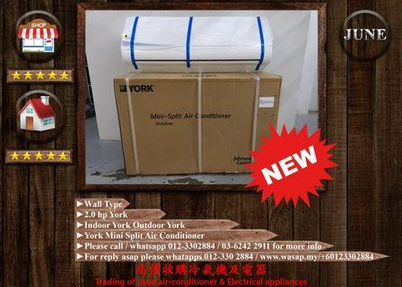 York 2HP Wall Type Air Conditioner (NEW)