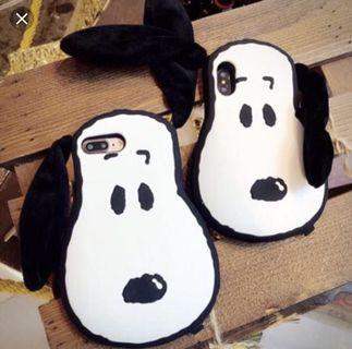 Snoopy 耳朵 ihpone7手機殼 附掛繩
