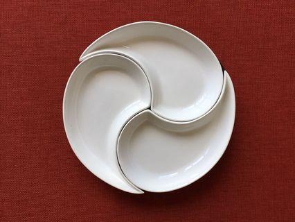 """""""Yin & Yang"""" Kidney-Shaped Feng Shui Dishes"""