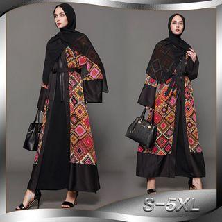 PREORDER Muslim Islam Arab Indonesia Malaysia Pakistani Indian Clothes colorful pattern high end costume queen