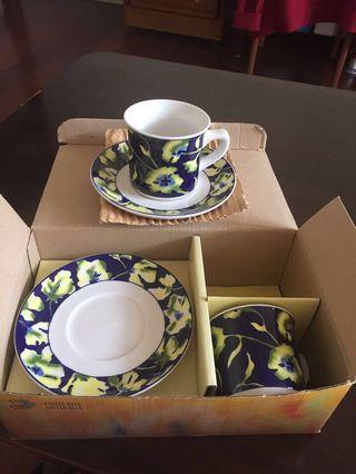 瓷器咖啡杯組(韓國製)
