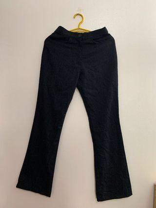high-waist slacks