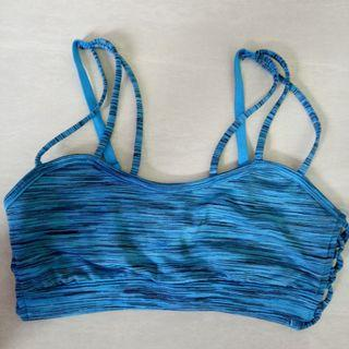 2 sports bra - S size Forever 21 Turquoise Blue Green/L size Roxy Dark Pink
