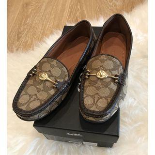 (二手)COACH正品  老花紋樂福鞋 娃娃鞋 熱門款 40號