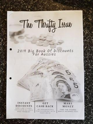 The Thrifty Issue book of discounts (e-copy)