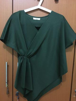 Green scuba blouse