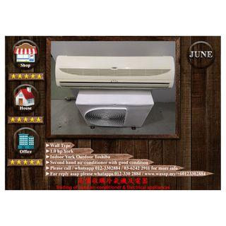York 1HP Wall Type Second Hand Air Conditioner