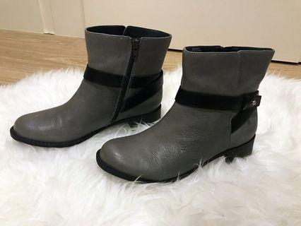 【二手】Easy Spirit 專櫃女鞋皮灰色短靴