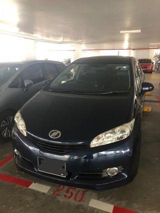 Toyota wish face lift (7 seater)