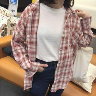 🚚 復古格紋襯衫