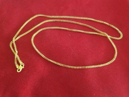 916 Gold beaded Necklace