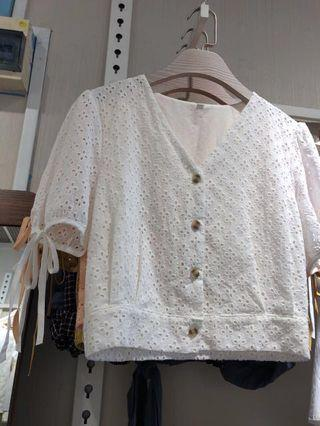 BNIP Crotchet Sleeve Blouse with tie details