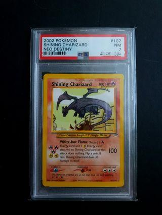 Pokemon Card Neo Destiny PSA 7 Shining Charizard
