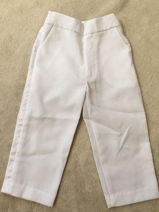 White Formal Slacks for baby (1-2yo)