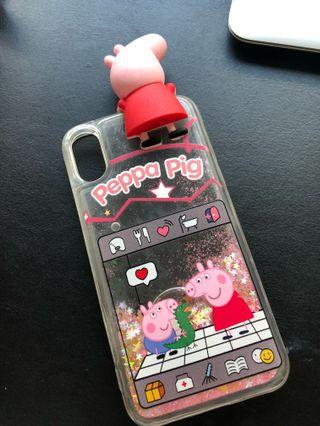 🚚 peppa pig iphone x water casing