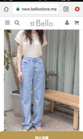 Bello store 正韓🇰🇷中高個子的落地牛仔褲