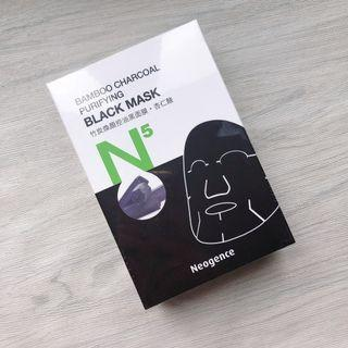Neogence 霓淨思 N5竹炭煥顏控油黑面膜(6片/盒)Bamboo Charcoal Purifying Black Mask