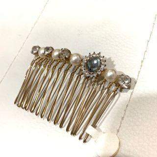 正韓珍珠鑽鑽造型髮簪髮飾