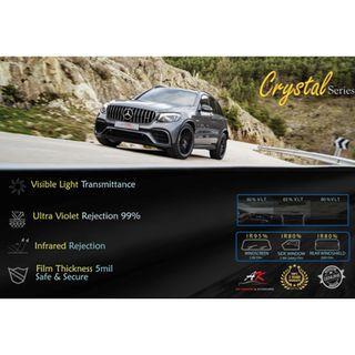 Tinted Full car - Crystal Series -6 CERMIN - AXIA / MYVI/ALZA/ VIVA/ VIOS/ HONDA CITY./ CIVIC / ACCORD/ HONDA JAZZ/ BEEZA/ ARUZ....