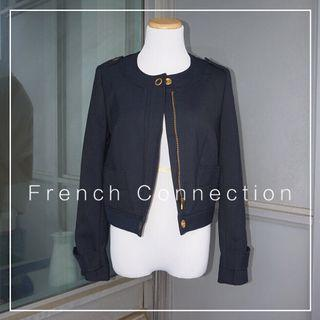 *Like New* French Connection Coat in Navy Women Size 0