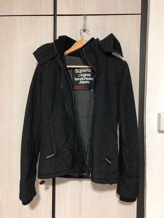 Superdry black winter jacket