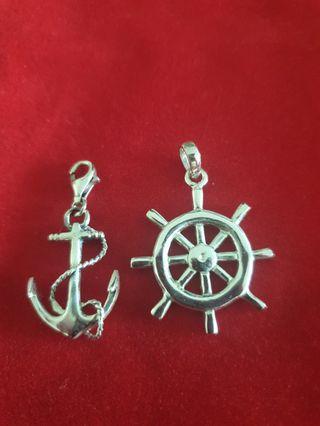 925 sterling silver ship pendants
