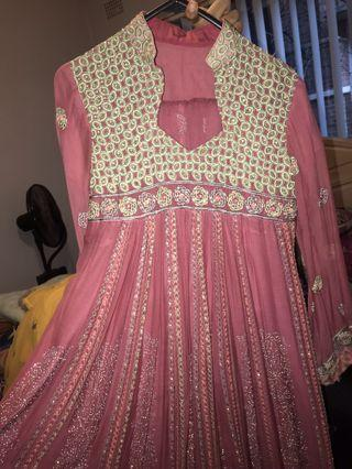 Pink Indian frock/dress