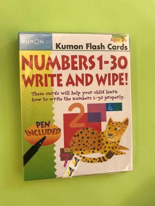 Jumbo flash cards WRITE & WIPE