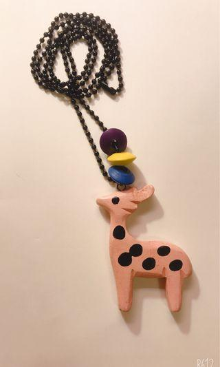 可愛長頸鹿項鍊