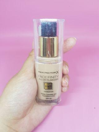 MAX FACTOR FACE FINITY FOUNDATION 3 IN 1