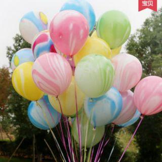 Balloon  Cloud Marble Balloons Birthday Party  10""