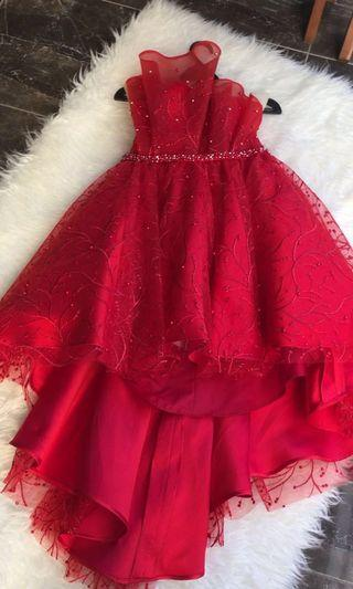 RED GOWN PROMNIGHT PARTY DRESS