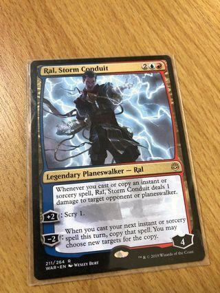 🚚 Magic The Gathering Cards- Ral, Storm Conduit