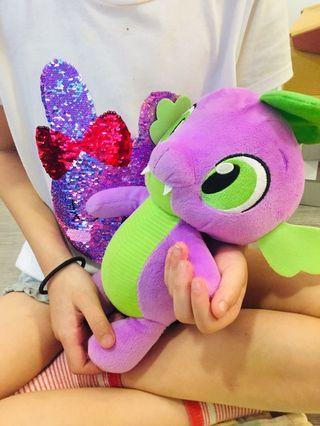 Purple dragon stuff toy