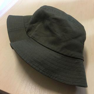 Muji 無印良品 棉質 漁夫帽 軍綠色