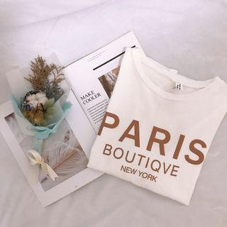 PARIS字母T恤