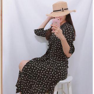 韓國花洋裝
