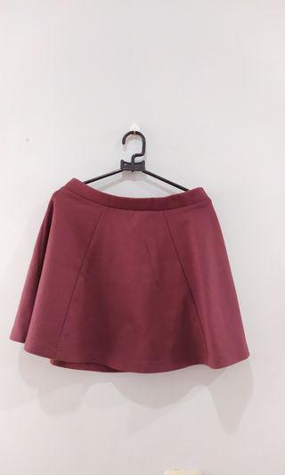 SPAO Maroon Skirt