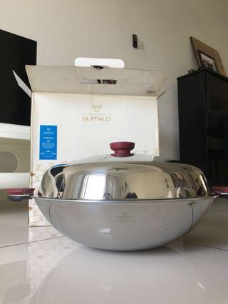 (BRAND NEW) Buffalo Brand Function Series Wok 40CM + Ladle + Stainless Steel Cleaner