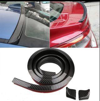 1.5M (cut to size) Car-Styling 5D Carbon Fiber Spoilers Styling DIY Refit Spoiler For Audi BMW Toyota Honda KIA Hyundai Opel Mazda Ford Skoda