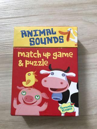 Match up game and puzzle