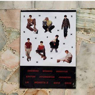 [WTS] MONSTA X Official Sticker Set