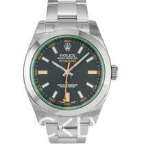 Rolex 116400GV 綠玻璃
