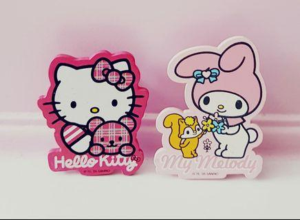 🌈FREE* Sanrio original hello kitty and my melody bookmark page paper clips markers