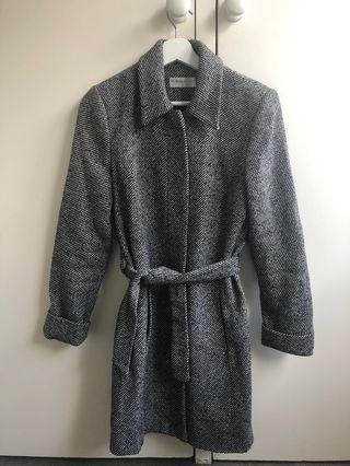 Grey wool duster coat - S / 8-10