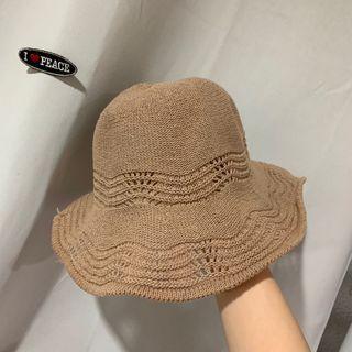 編織漁夫帽邊緣內裏可調整收納方便