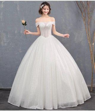 Glitter lace a line wedding dress gown bridal brand new