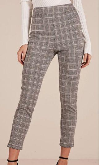 Grey checked Pants